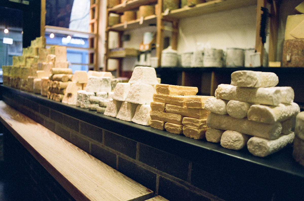 cheese counter in a Neal's Yard Dairy shop