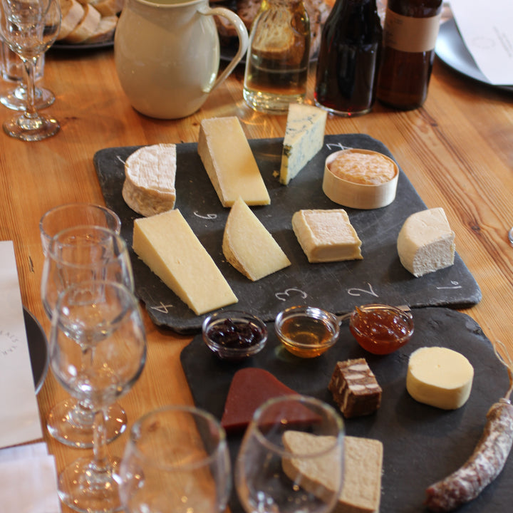 A Summer Tasting of Cheese with Wine