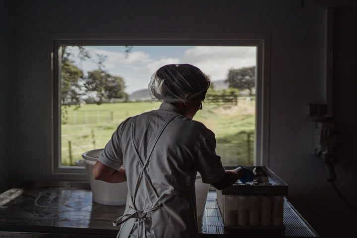 our-work: The view from the cheesemaking room at Errington Cheese