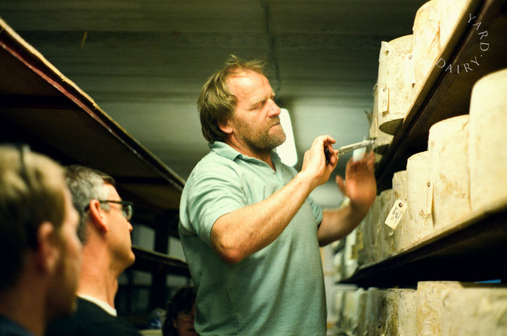 our-work: Selecting cheeses at the farm