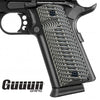 Guuun 1911 G10 Grips Full Size Government Commander 1911 Grip Big Scoop Sergeant Epaulet Texture H1 MAN - Guuun Grips