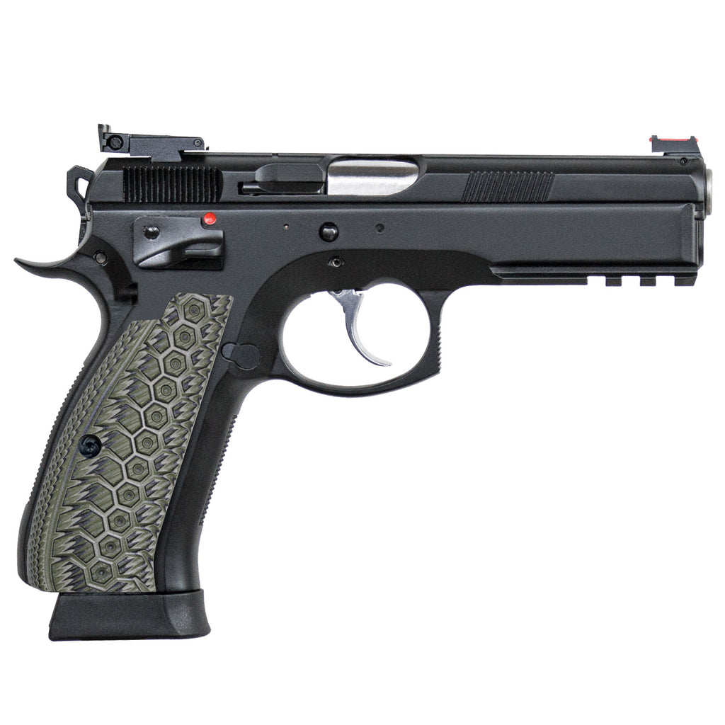 Guuun CZ75 G10 Grips Full Size CZ SP01 Grip Gun OPS Mechanical Texture - SP1 WU - Guuun Grips