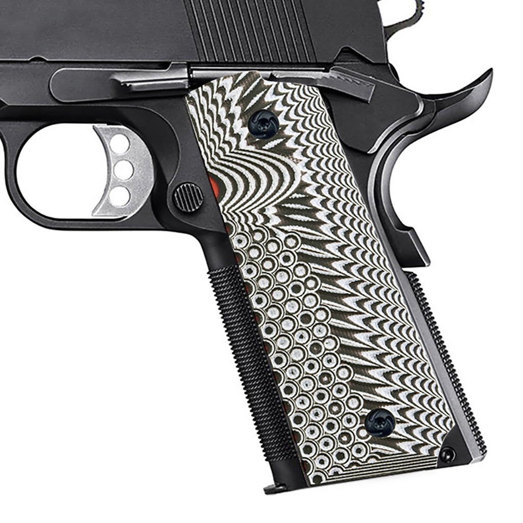 Guuun Full Size 1911 Grips G10 Ambi Safety Cut OPS Eagle