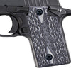 Guuun G10 Handgun Grips for Sig Sauer P238 Diamond Cut Texture - P2-DM - Guuun Grips