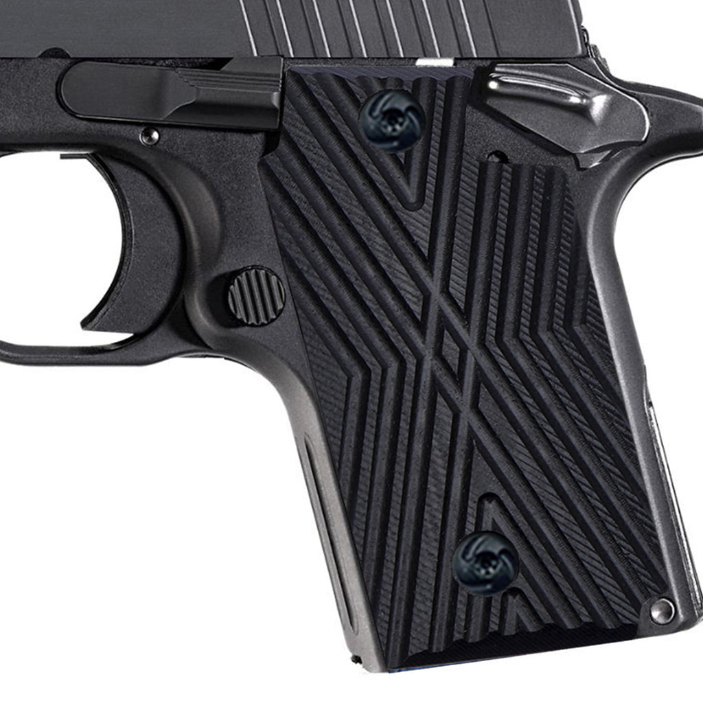 Guuun G10 Grips for Sig Sauer P238 Aggressive OPS Crosshatch Texture - P2-X - Guuun Grips