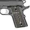 G10 Pistol Grips for Compact 1911 Officer, Diamond Cut Big Scoop Texture - H1C-DM2 - Guuun Grips