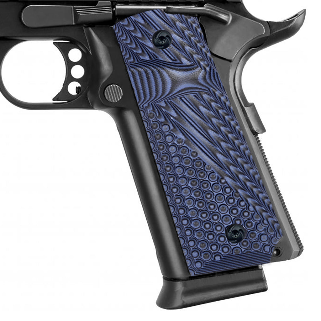 Guuun 1911 Grips Ambidextrous G10 Grips for 1911 Full Size, OPS Texture Big Scoop Texture Fit for Most Government Commander 1911 Pistol H1Z-D - Guuun Grips
