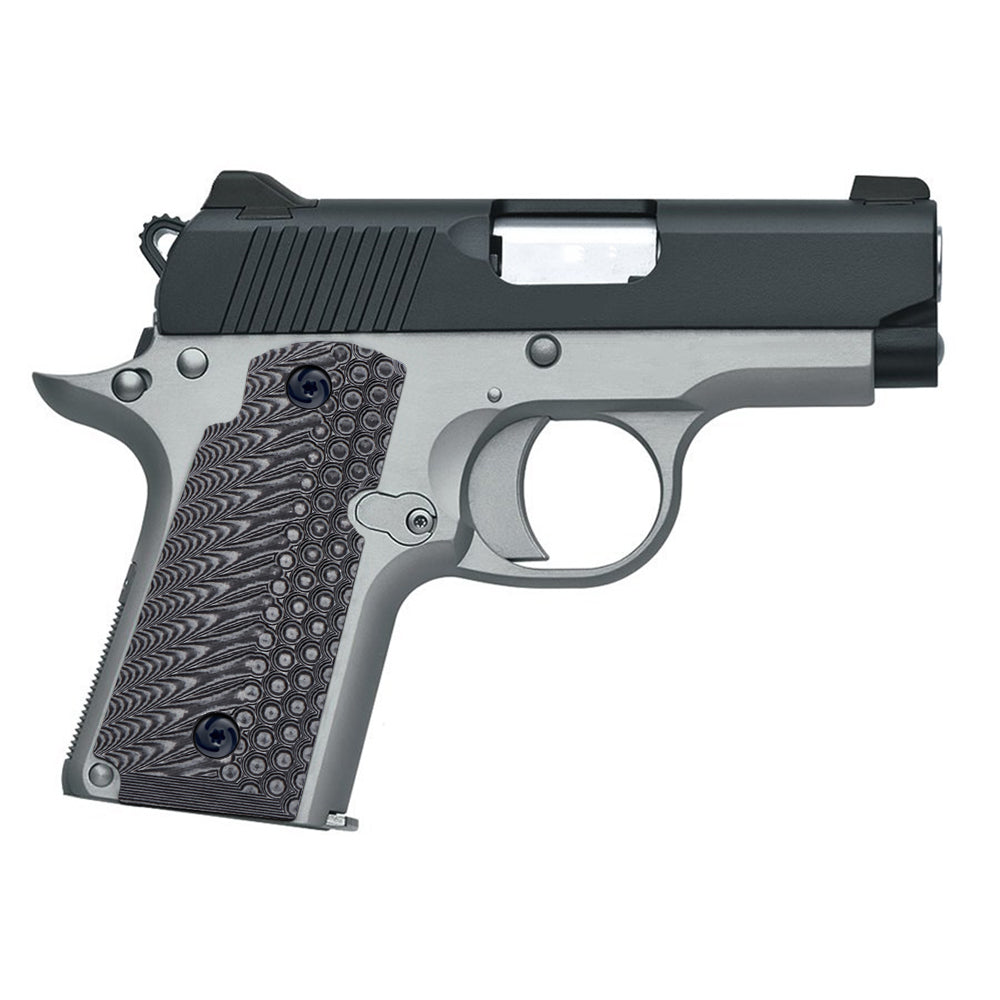 Guuun Kimber Micro Carry 380 ACP G10 Grips with Ambi, OPS Tactical Texture K3-LX - Guuun Grips