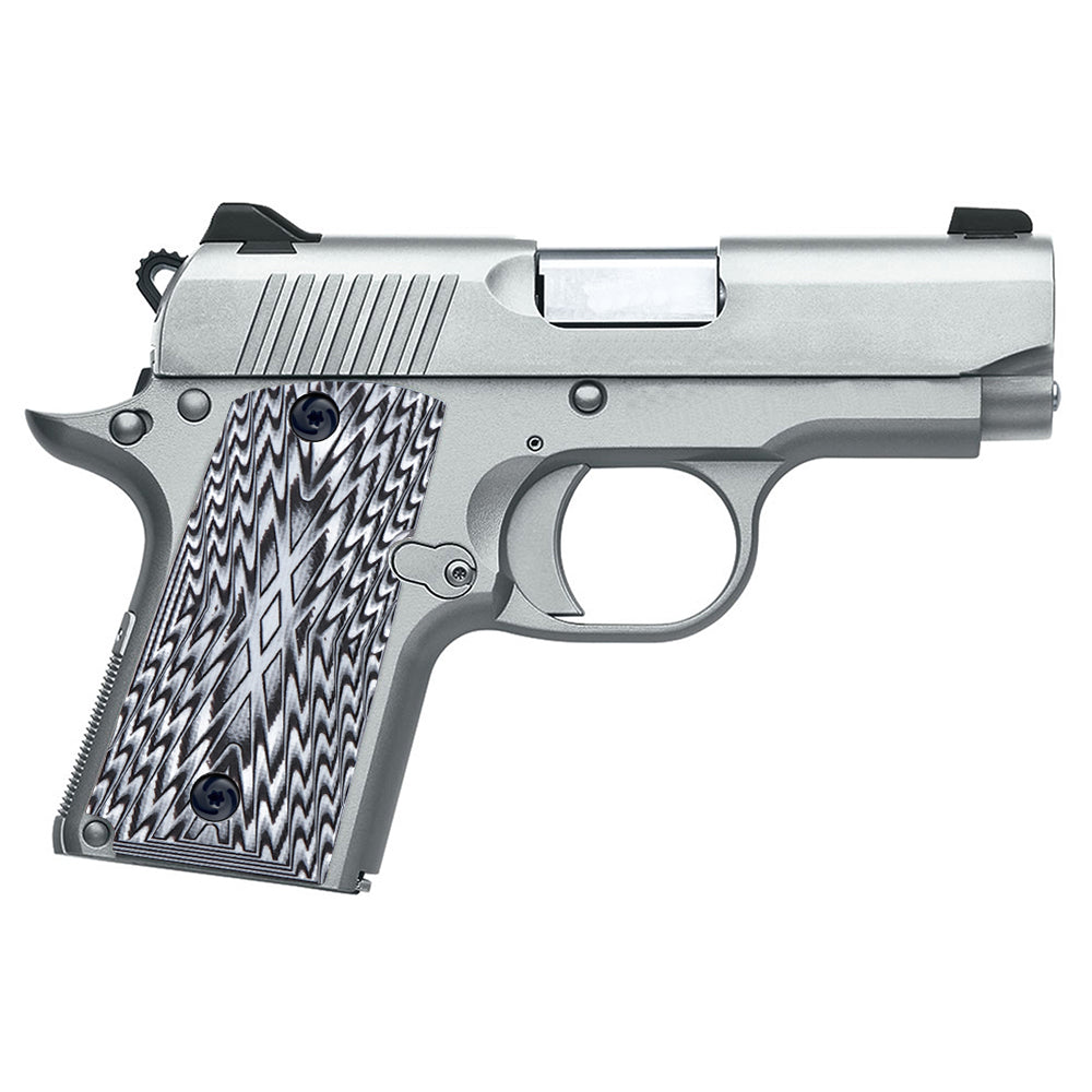 Guuun Kimber Micro Carry 9 9mm Grips G10 Grips, Aggressive OPS Crosshatch Texture K9-X - Guuun Grips