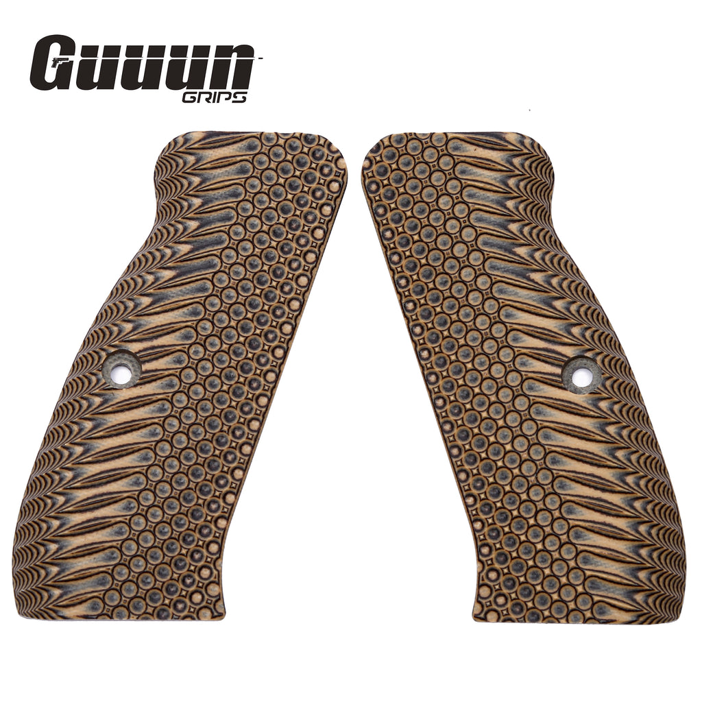 Guuun CZ 75 Grips Full Size G10 CZ75 SP-01 Grip Thin OPS Tactics Texture SP1 - 7 Color Options - LX - Guuun Grips