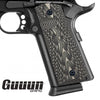Guuun G10 1911 Grips For Full Size Government Ambi Safety Cut Custom OPS Texture H1-X - Guuun Grips