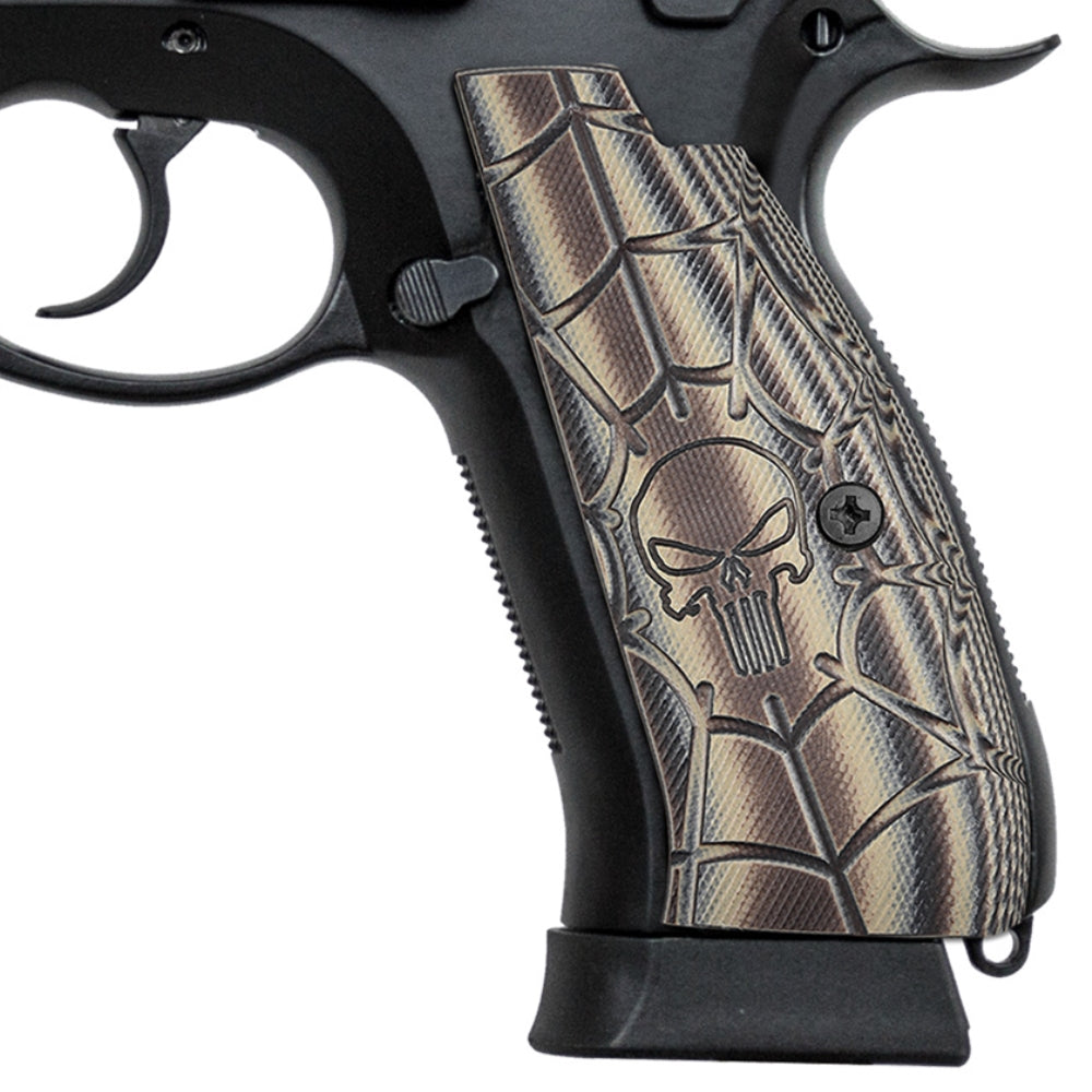 Guuun CZ 75 Full Size SP-01 Shadow Tactical CZ SP01 Grips Skull Skeleton Texture SP1 C - Guuun Grips
