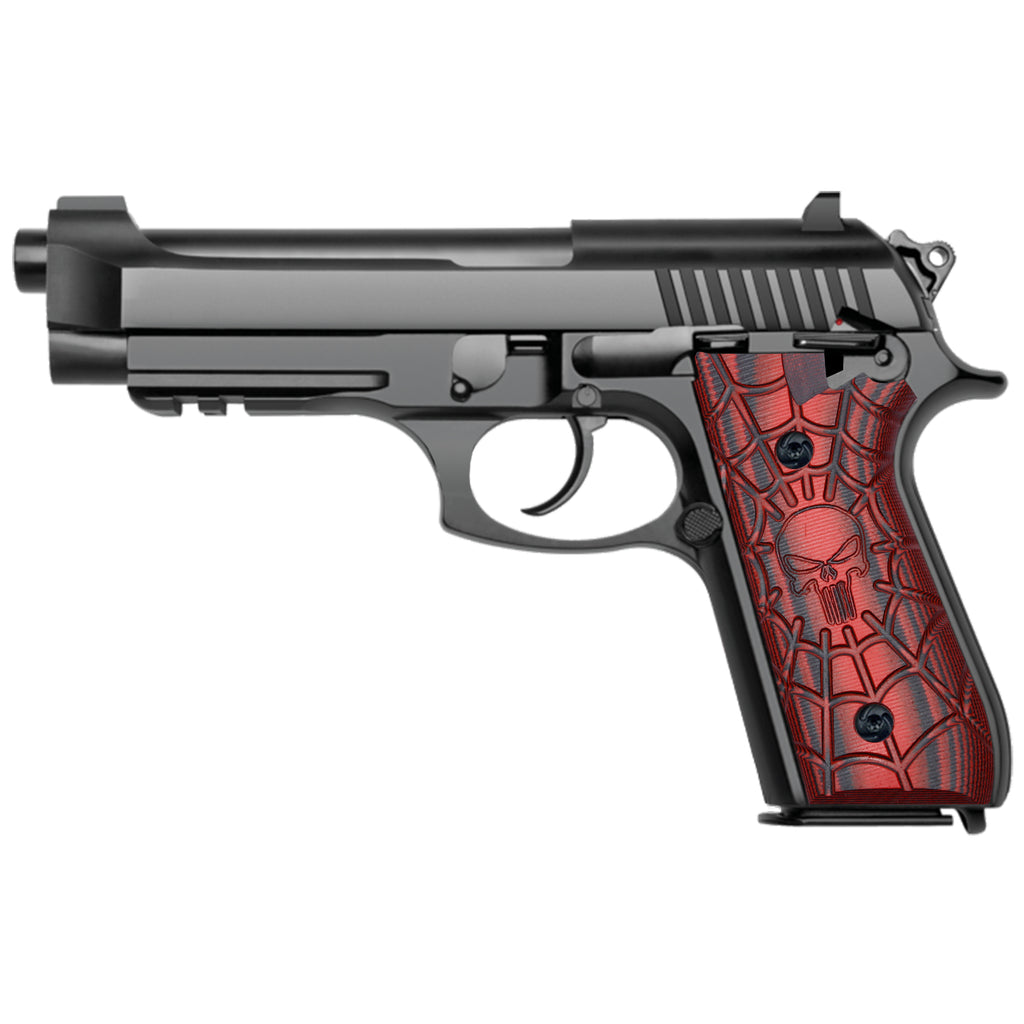 G10 Grips for Taurus PT92 - Skull Skeleton Texture Compatible with PT 92/99/100/101 Pistol and Decocker - T2-C - Guuun Grips
