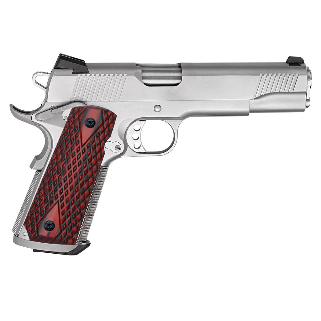 Guuun 1911 Grips G10 Grips for 1911 Full Size, Diamond Cut Big Scoop Texture Fit for Most Government Commander 1911 Pistol H1-DM2 - Guuun Grips