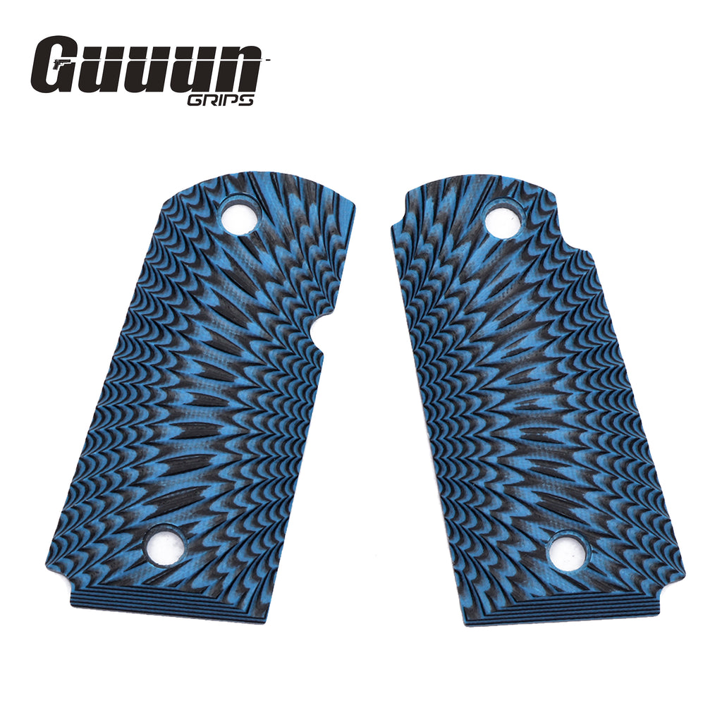 Guuun Kimber Micro Carry 9 9mm Grips G10 Grips, Aggressive Sunburst Tactical Texture K9-S - Guuun Grips