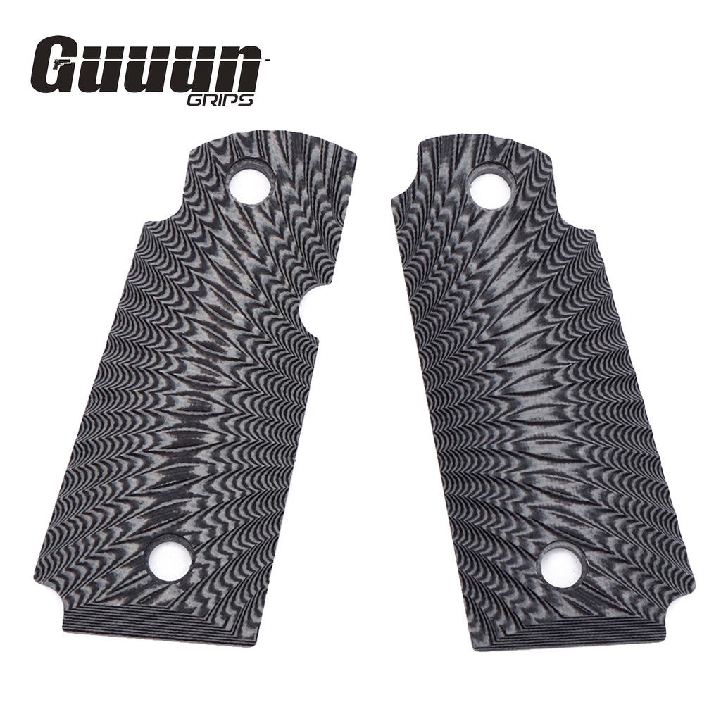 Guuun Kimber Micro Carry 380 ACP G10 Grips with Ambi, Sunburst Tactical Texture K3-S - Guuun Grips
