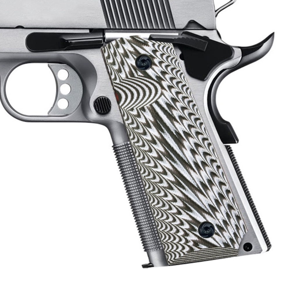 Guuun Pistol Grips, Full Size G10 M1911 Grips Ambi Safety Cut
