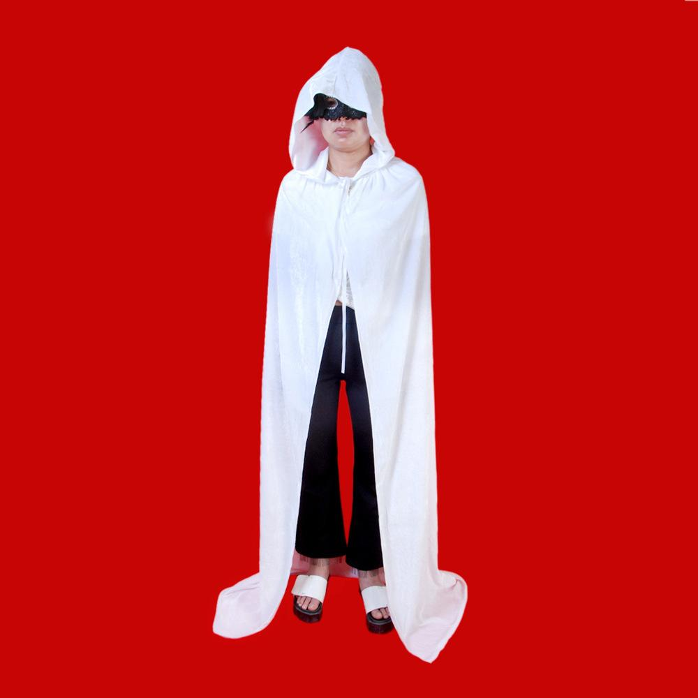 load image into gallery viewer adult witch long purple green red black halloween cloaks hood