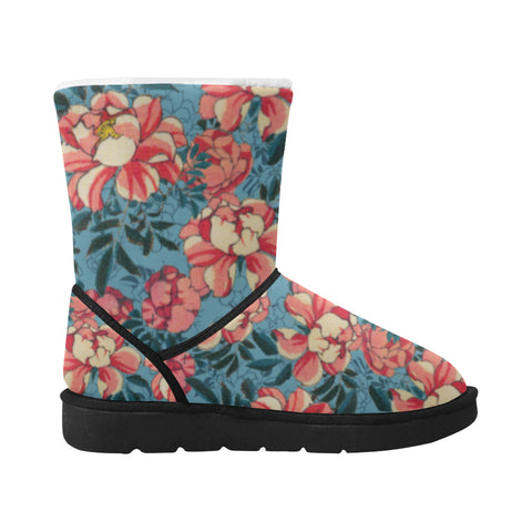 Snow Boots Motif Wild Roses