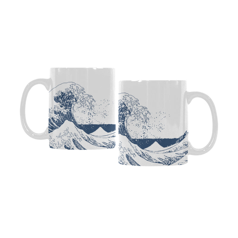 Mug en céramique Motif Big Wave Hokusai