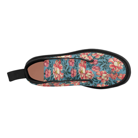 Boots Motif Wild Roses
