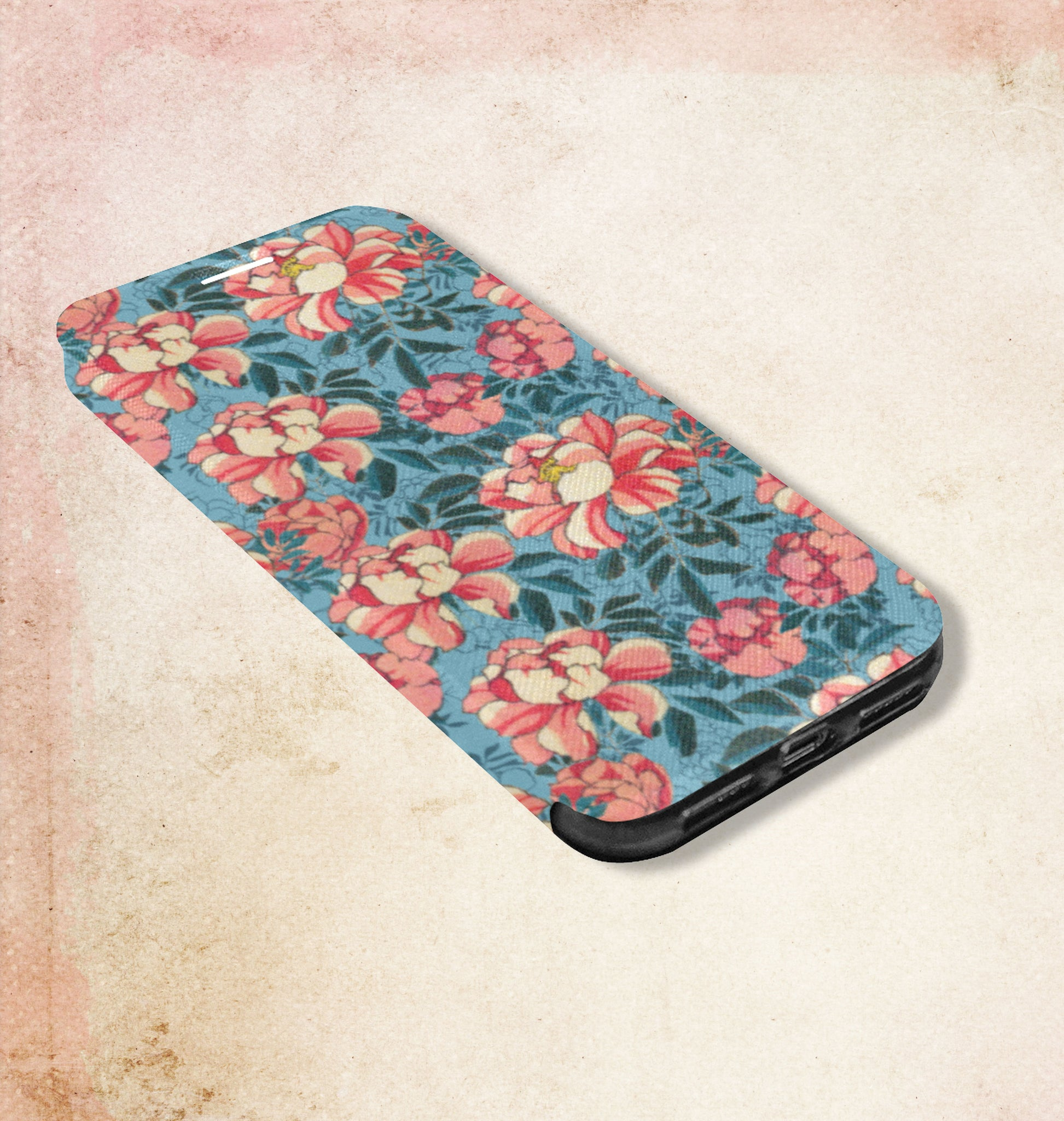 Cover Case for iPhone X Motif Wild Roses