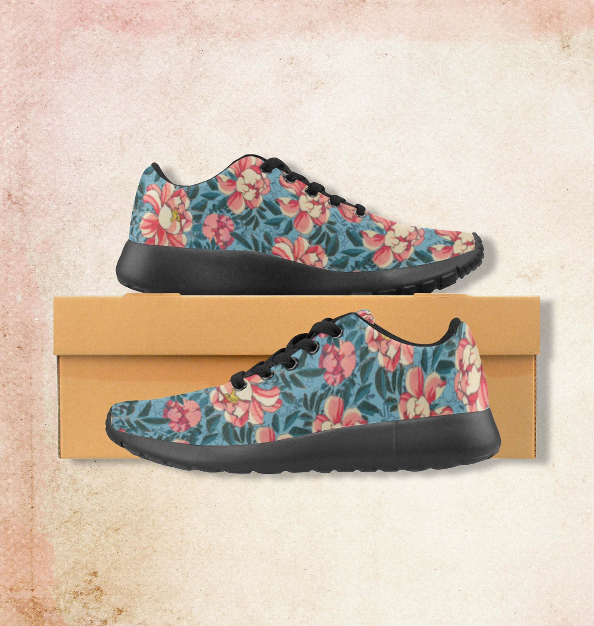 Running shoes Motif Wild Roses