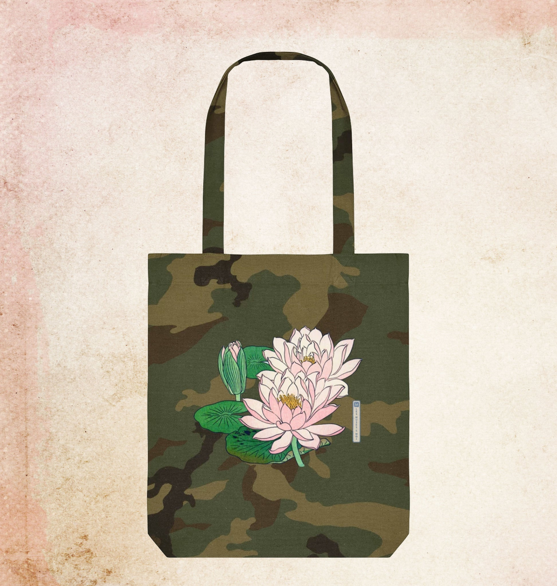 Tote Bag Camouflage & Nenuphar