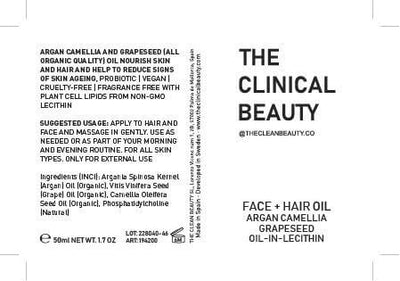 Argan Camellia And Grapeseed Organic Oil For Face And Hair