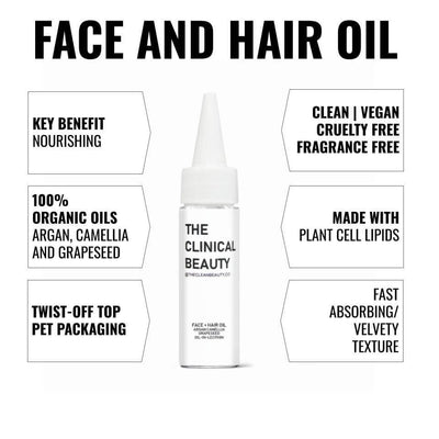 Face and Hair Oil available at The Clean Beauty
