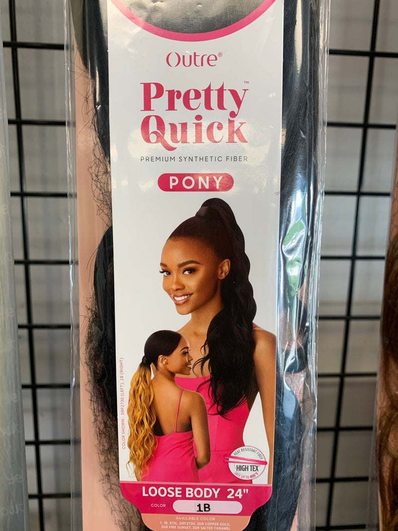 Pretty Quick Loose Body Wrap Ponytail 24""