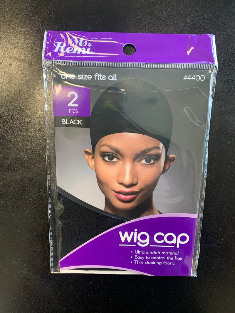 Ms. Remi 2pcs Wig Cap Black