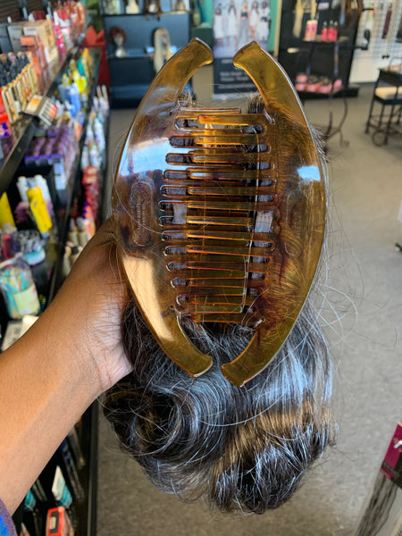 Interlocking Comb Hair Piece (Straight) 10""