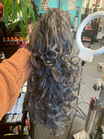 Interlocking Comb Hair Piece Curly 20""