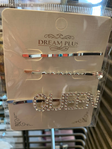 """Queen"" Hair Pins"