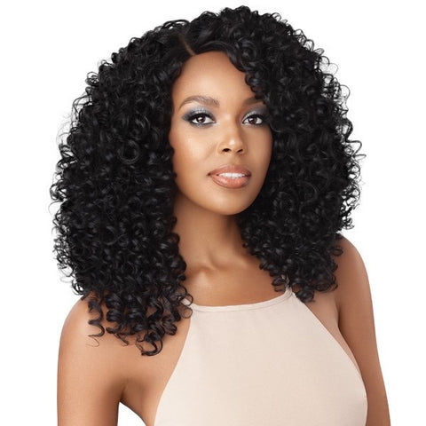 Outre Synthetic L Part Swiss Lace Front Blanca Wig