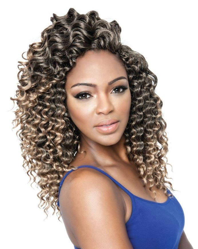 3X Aruba Soft Deep Crochet Hair 14""