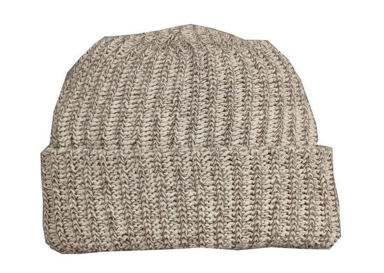 Marled Cotton Knit Beanies