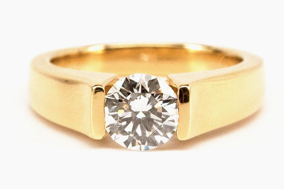 1.37ct Tension Set Modern Diamond Solitaire