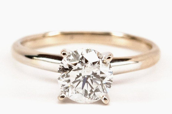 1.63ct Classic Diamond Solitaire Engagement Ring