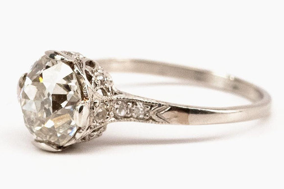 1.98ct Old European Cut Diamond Solitaire