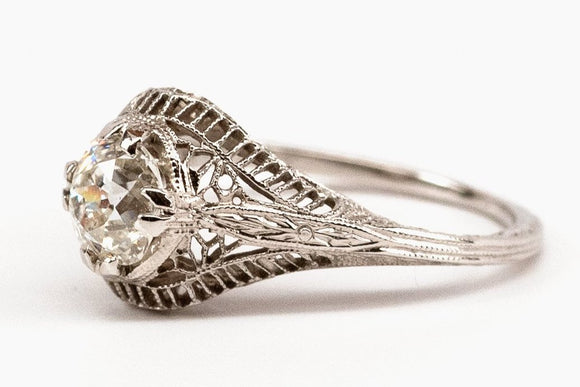 .82ct Old European Cut Filigree Solitaire