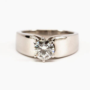 SOLD Moissanite and Platinum Engagement Ring