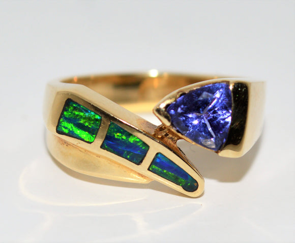Tanzanite and Opal Ring