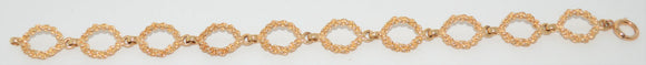 Twisted Gold Loop Bracelet