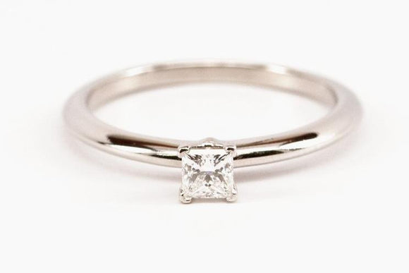 .28ct Princess Cut Tiffany & Co. Diamond Solitaire Ring SOLD