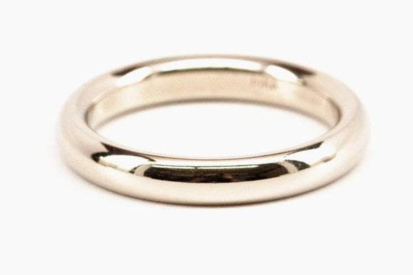 14K White Gold 3mm Comfort Fit Band