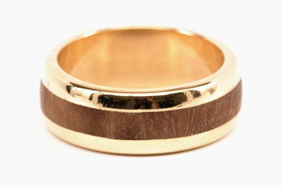 Wood Inlay Wedding Band