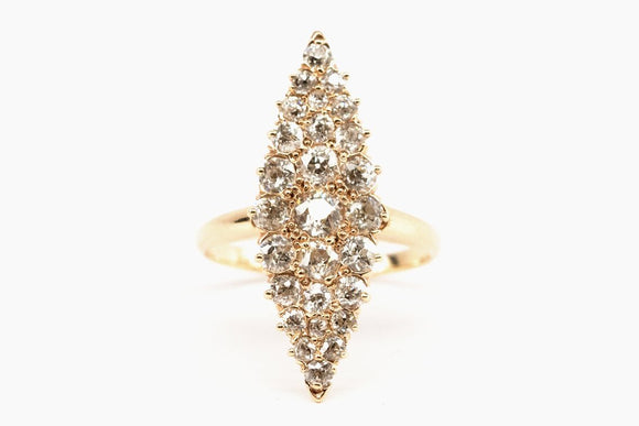 Victorian Diamond Navette Ring