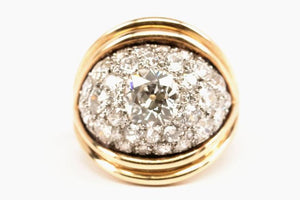 Diamond Encrusted Dome Ring
